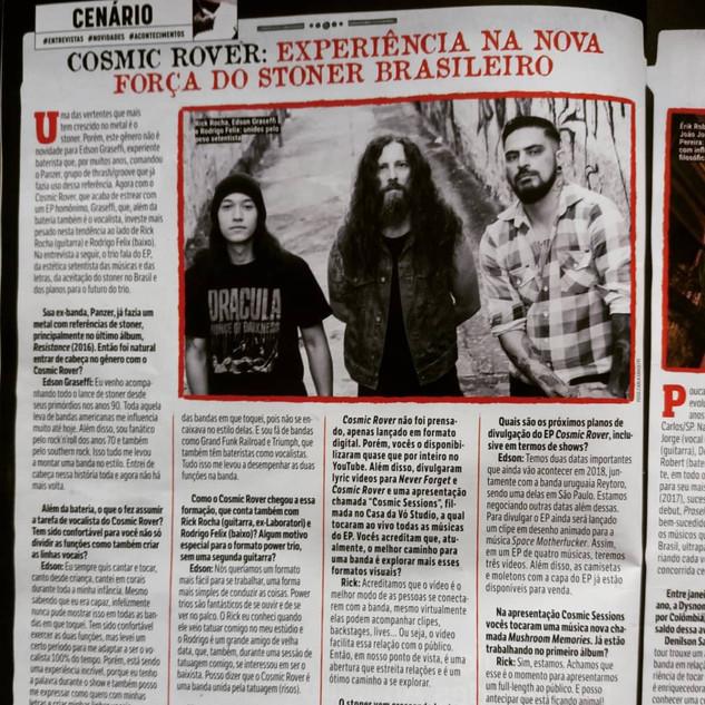 Cosmic Rover Interview- Rock Brigade Magazine