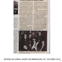 Newspaper from Bebedouro city about Panzer´s concert like headliner- 2013- Bebedouro- SP- Brasil