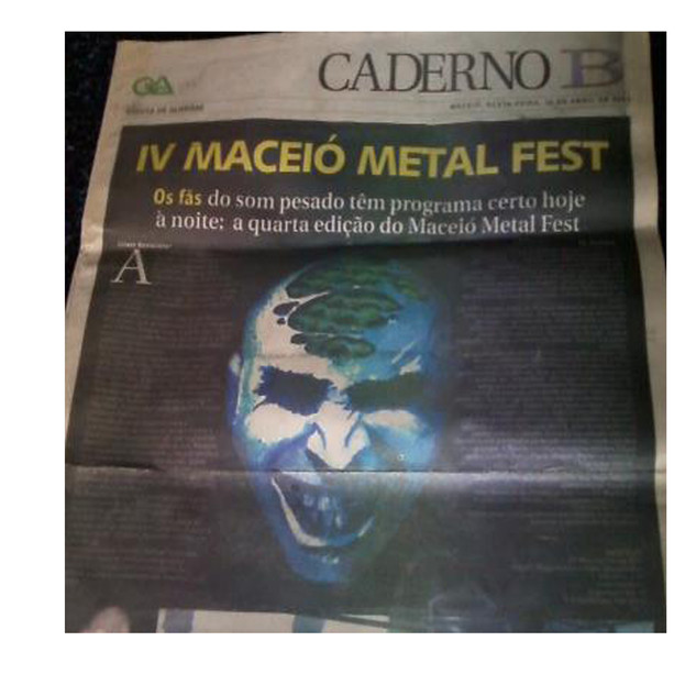 Newspaper about Panzer´s concert like headliner- Maceió- Alagoas- Brasil-2001
