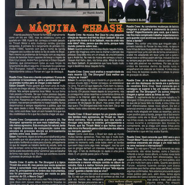 Roadie Crew Mag- Interview- Brasil- 2002