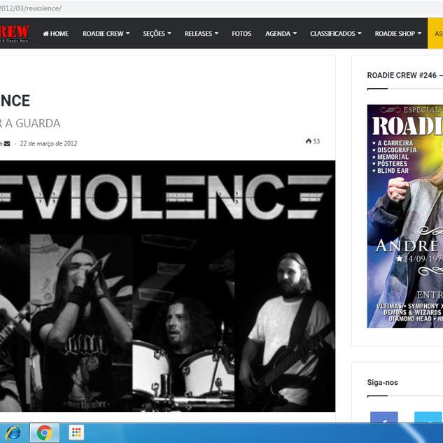 Reviolence- Roadie Crew Website- Interview 2012