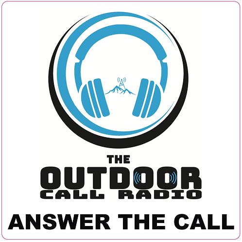 The Outdoor Call Radio Sticker