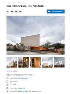 Casa Entre Jardines- Archdaily
