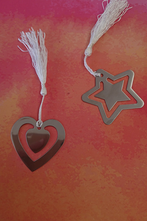 Heart and Star Shaped Bookmark