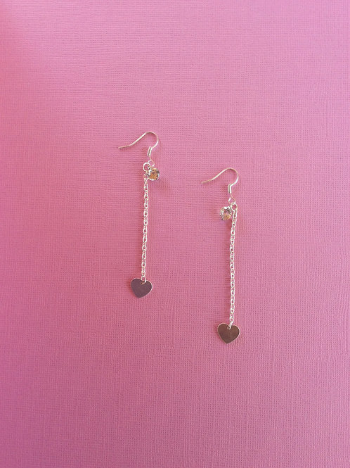 Heart and Sparkle Earrings