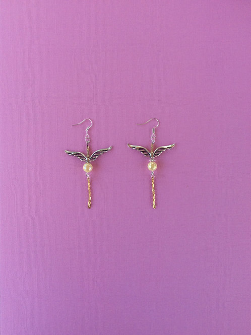 'Golden Snitch' Inspired Earrings