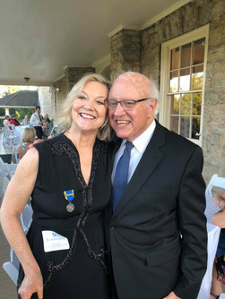 Governor Julian Carrol and Erin Chandler