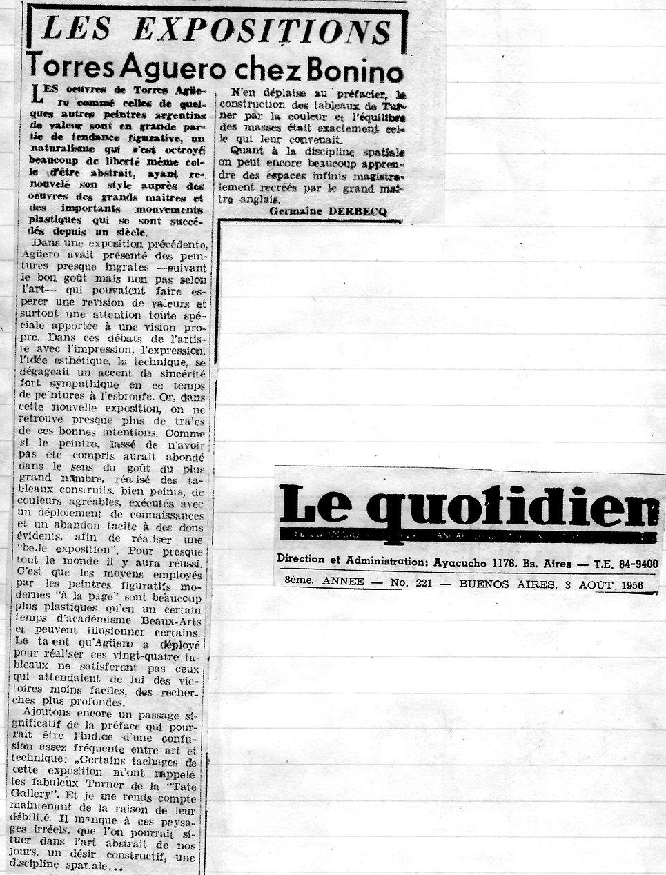 Le Quotidien (Torres Aguero Chez Bonino)