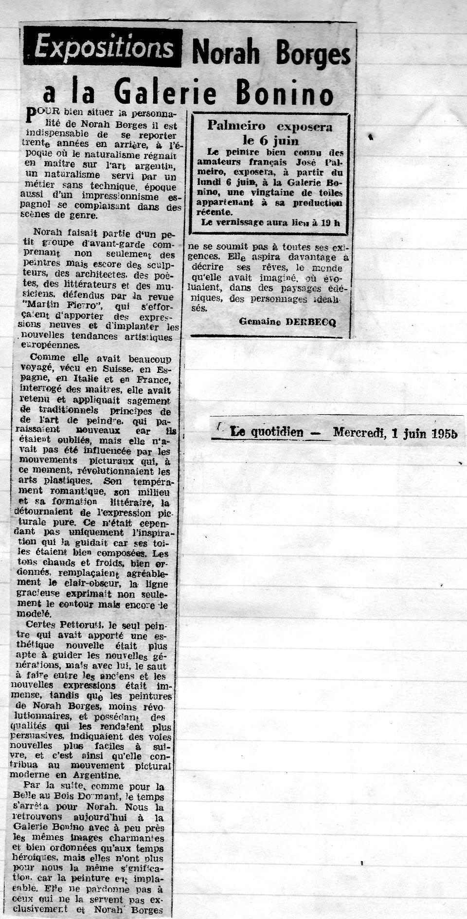 Le Quotidien003 - Norah Borges a la Gale