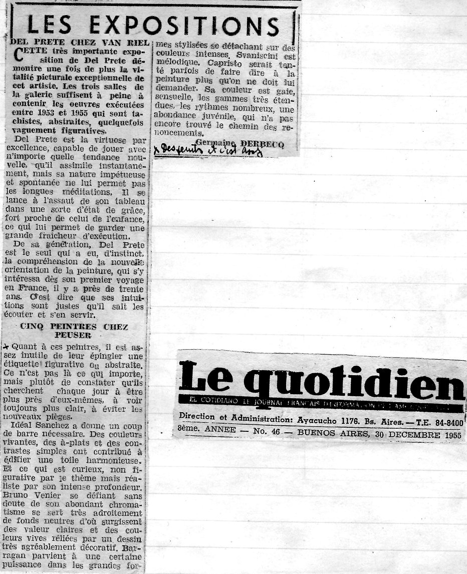 Le Quotidien - Del Prete chez Van Riel.j