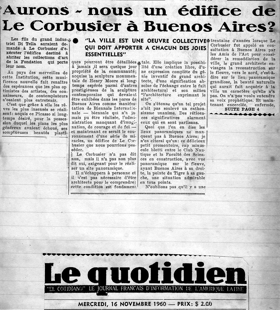 Auron nous un edifice de Le Corbusier a