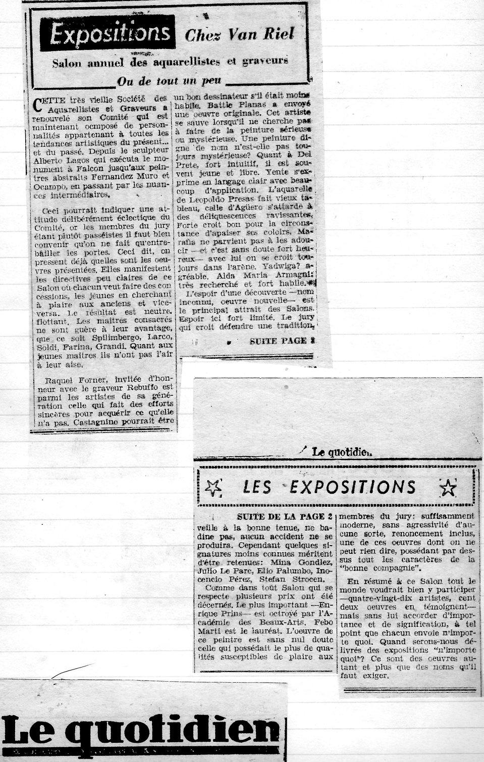 Le Quotidien -Chez Van Riel, Salon Annue