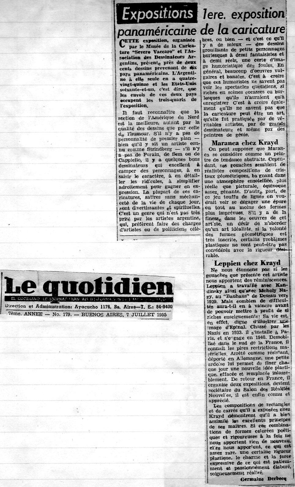 Le Quotidien2 -Premiere exposition panam