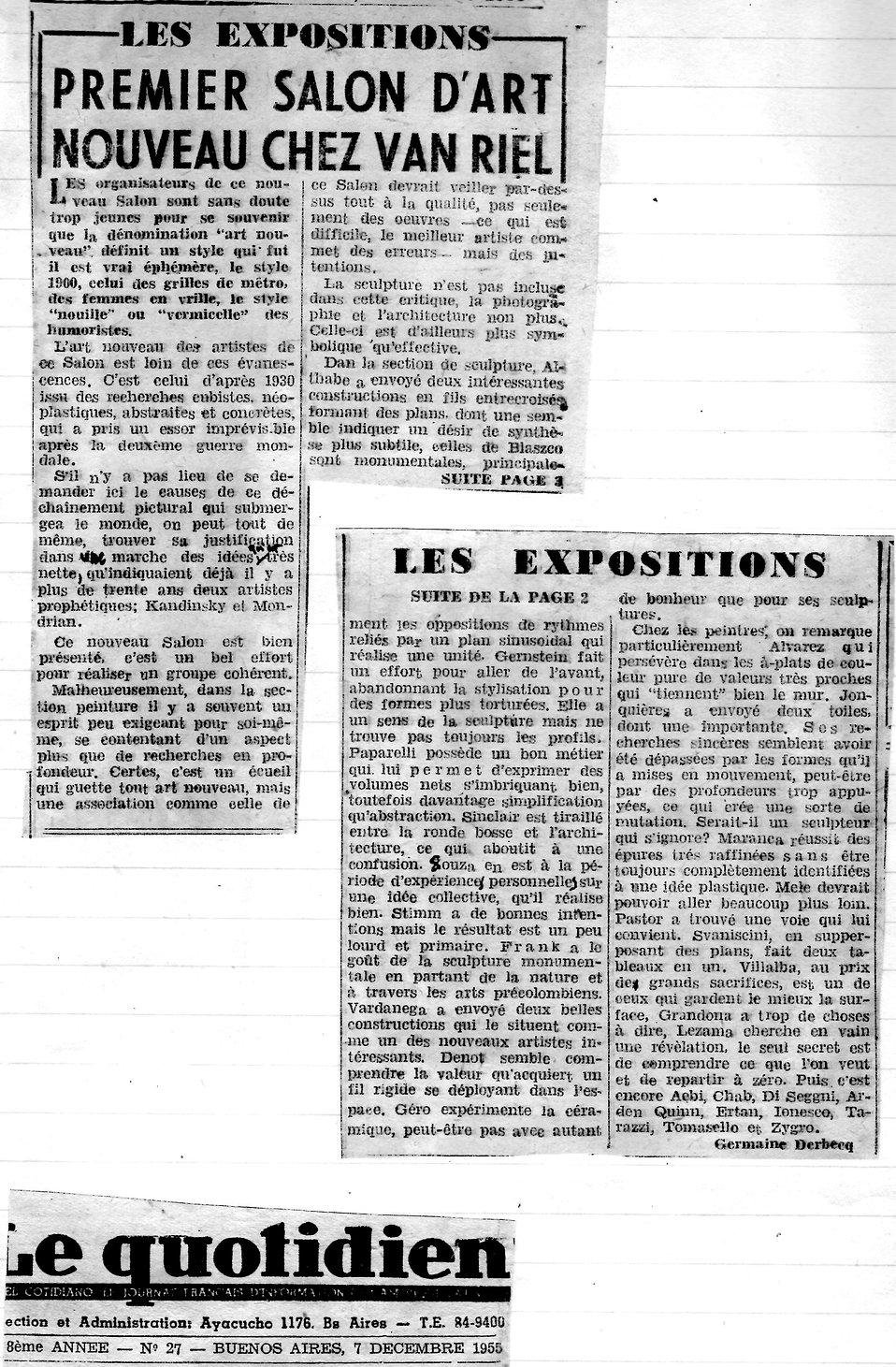 Le Quotidien2 (Premier salon d'art nouve