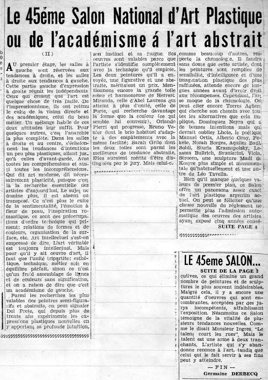 Le Quotidien - Le 45 Salon National - pa