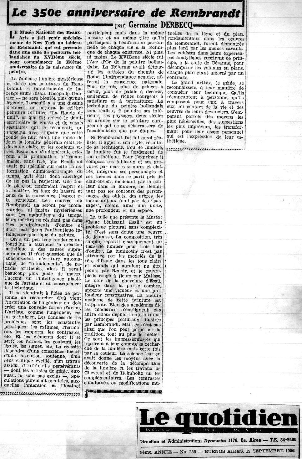 Le Quotidien.2 - 350 anniversaire de Rem