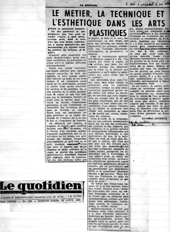 Le Quotidien - Le metier, la technique.j