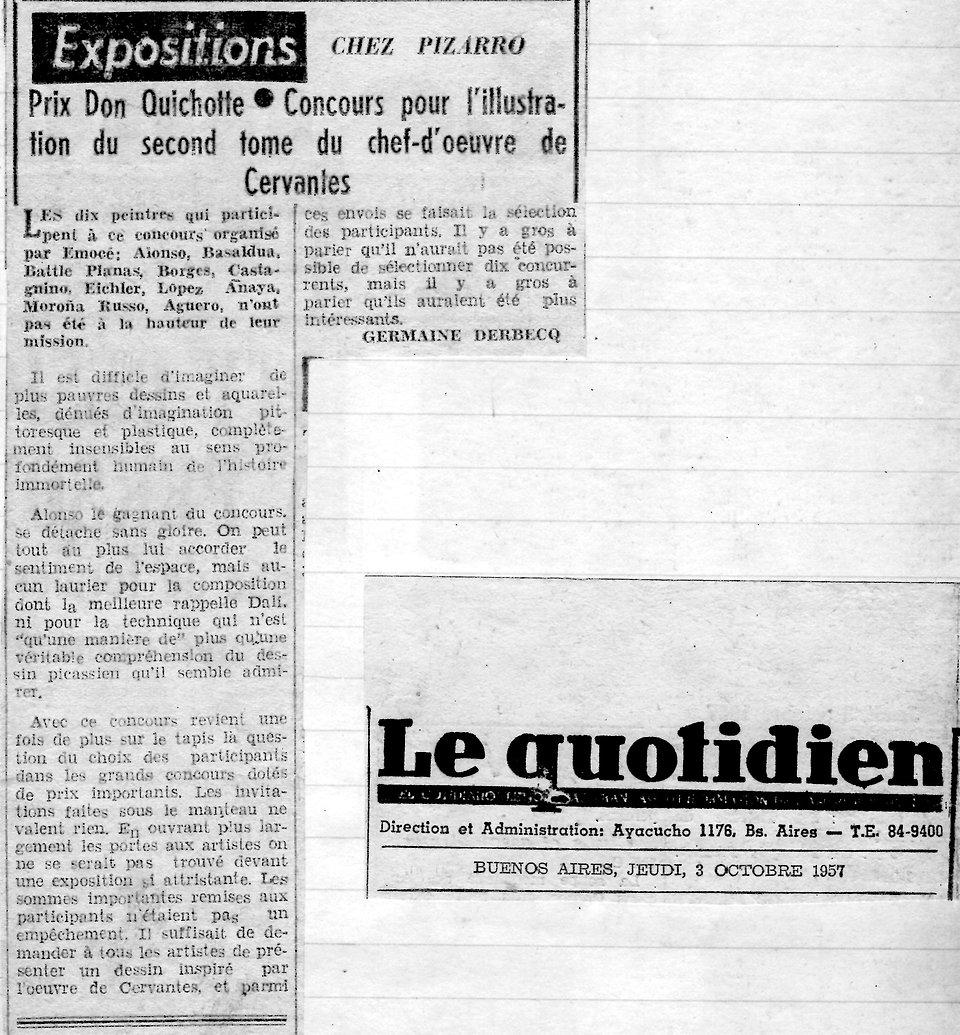 Le Quotidien -Chez Pizarro -Prix Don Qui