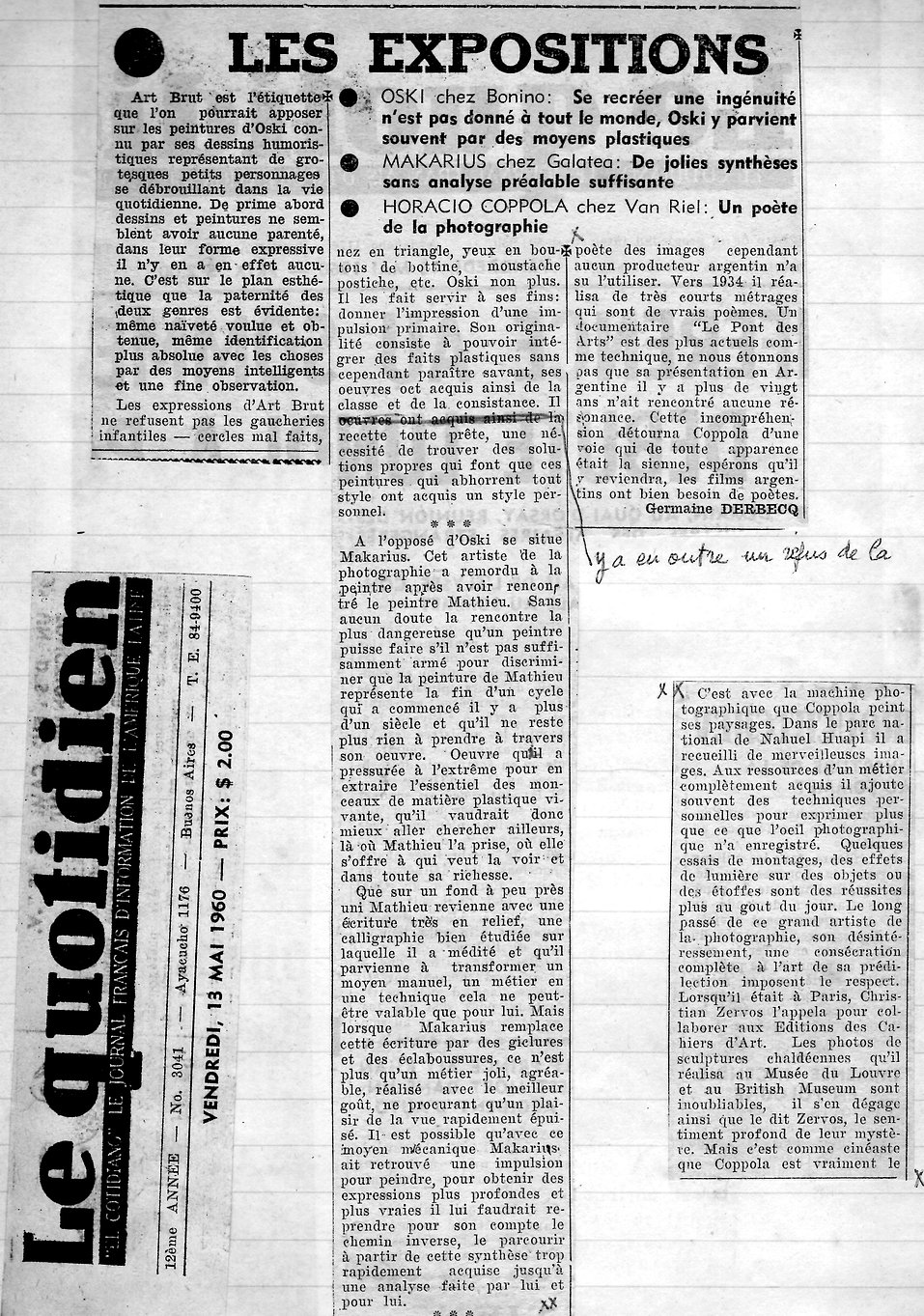 Le Quotidien2 - Oski chez Bonino y Makar