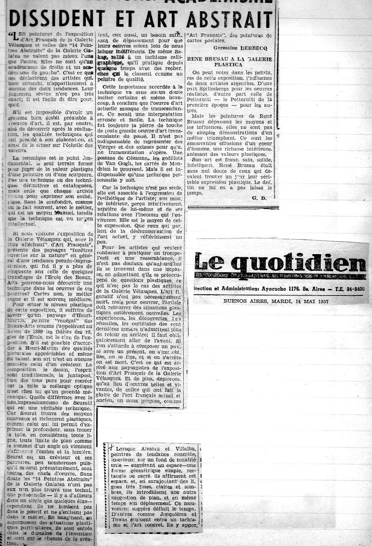 Le Quotidien -academisme dissident et ar