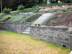 Wall after including concrete steps