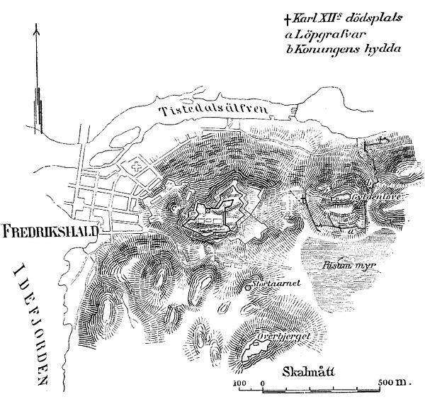 Karta_över_Karl_XIIs_dödsplats_vid_Fredriksten_(ur_Nordisk_familjebok).png