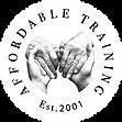 affordable training monochrome logo