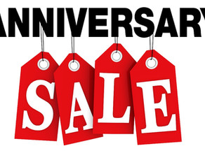 Anniversary Sale extended!