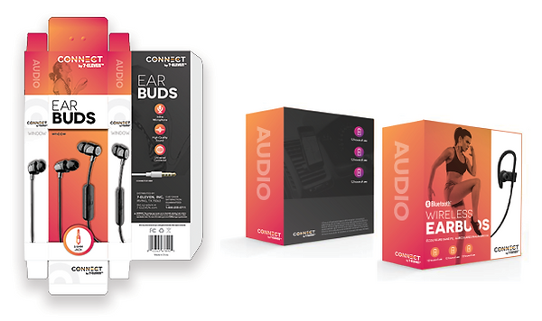 7-eleven Earbuds Packaging_Layout Image.