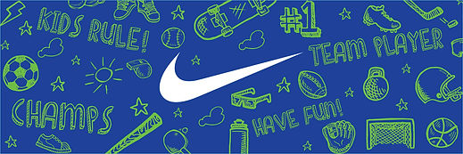 Header graphic used for the boys Nike apparel display