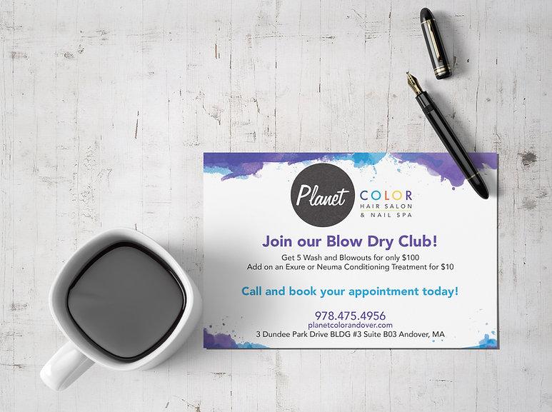 Planet-Color-Blow-Dry-Club-Post-Card-Moc