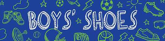 Image of the boys' footwear header graphic designed for the Kids' Innovation Shop