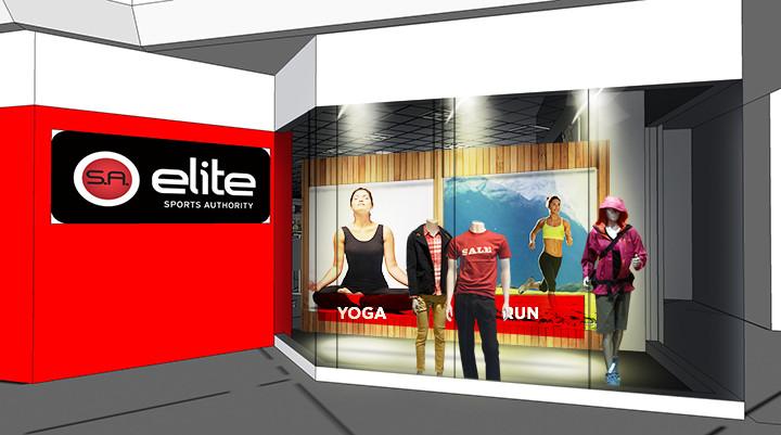 Elite Store Window Display Mock-Up