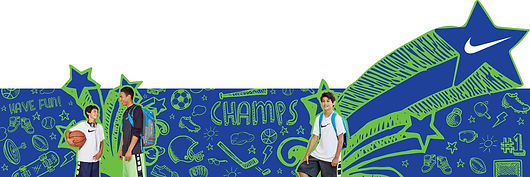 Image of the boys' Nike apparel header graphic designed for the Kids' Innovation Shops