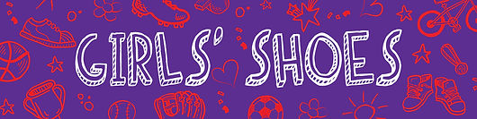Image of the girls footwear header graphic designed for the Kids' Innovation Shop