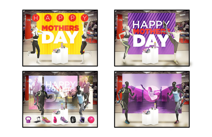 Mothers Day Window Display Mock-Up