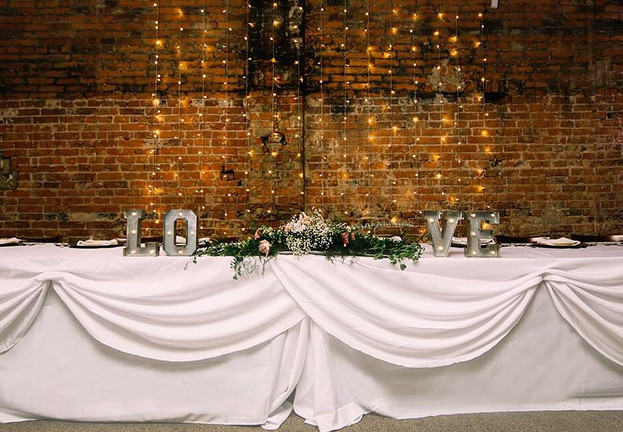 Exposed Brick With Lights