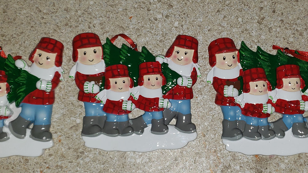 Personalized Christmas Ornament- tree picking