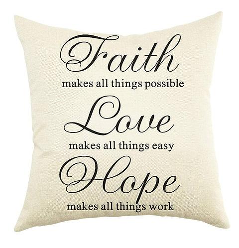 Faith Love Hope Pillow