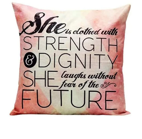Strength & Dignity Pillow