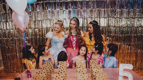 Disney Princess party hosts for a kids party