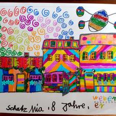 Mia Schatz, 8 Jahre