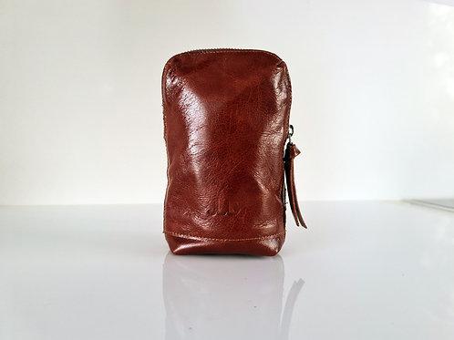 Whiskey Brown Leather Belt Bag