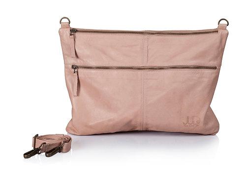 Tan Brown Leather Messenger Bag