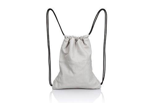 White Leather Multiway Backpack Sack Bag