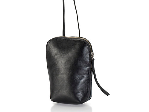 Black Leather Shoulder Purse