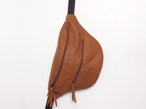 3in1 Camel Leather Oversized Fanny Pack