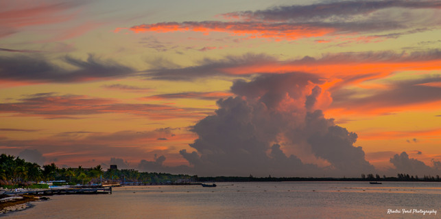 Sunrise Over The Mayan Riviera