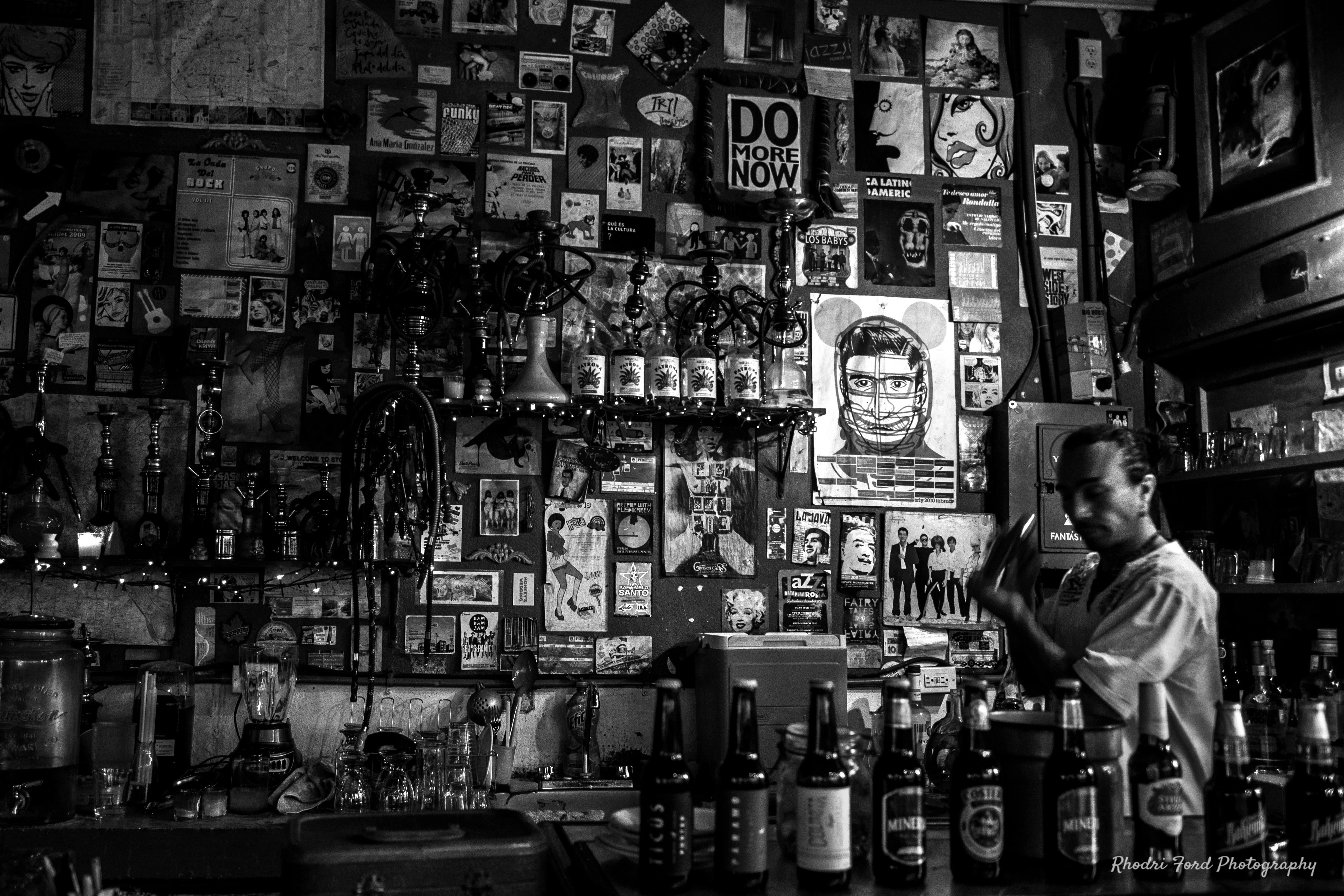Sayulita Barman B&W