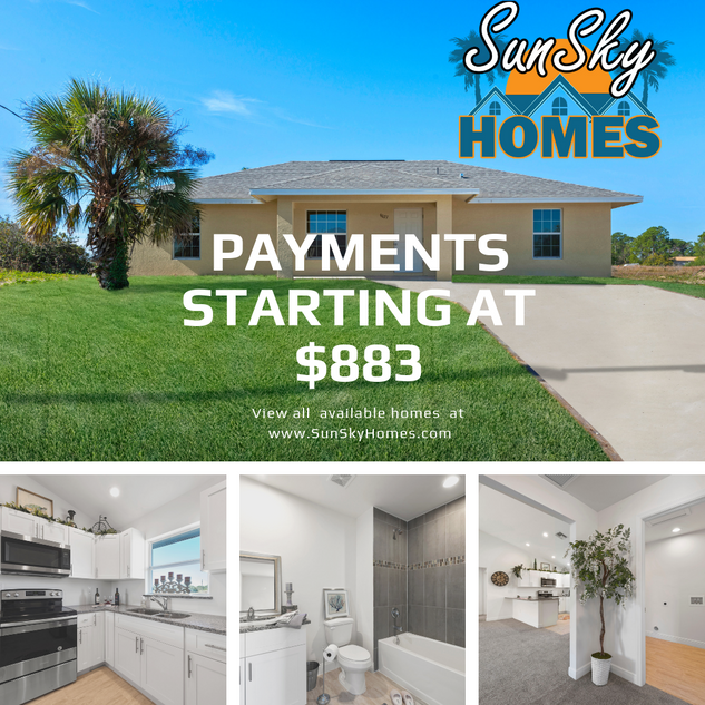 INSTAGRAM - SUNSKY HOMES Monthly Payment